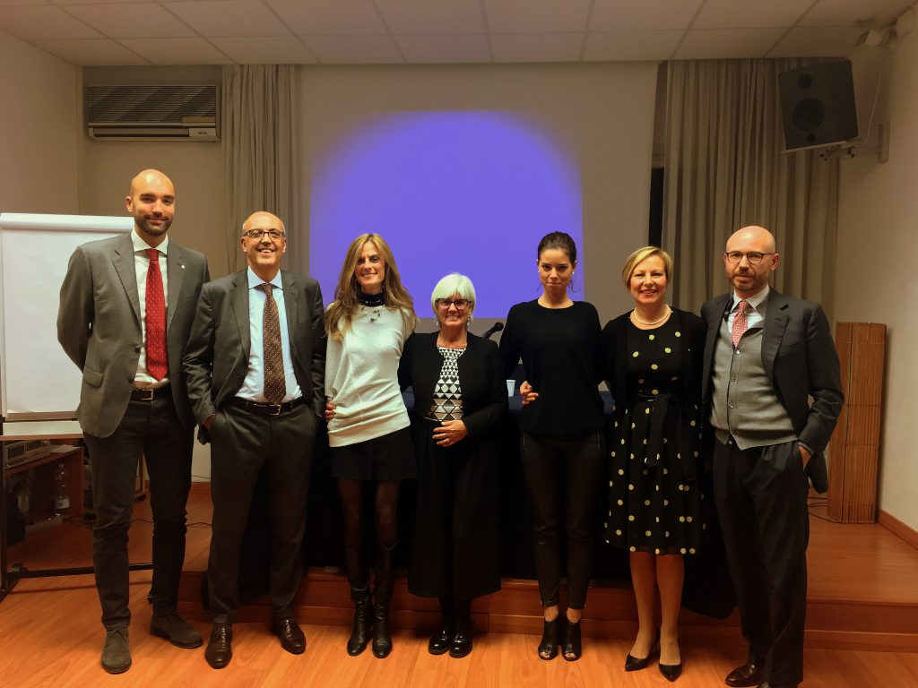 Dario Mussolin, Prof. Carlo Pino, Elisa Spillare, Patrizia Serblin, Francesca Spillare, Alessia Pasetto e Prof. Marco Allena
