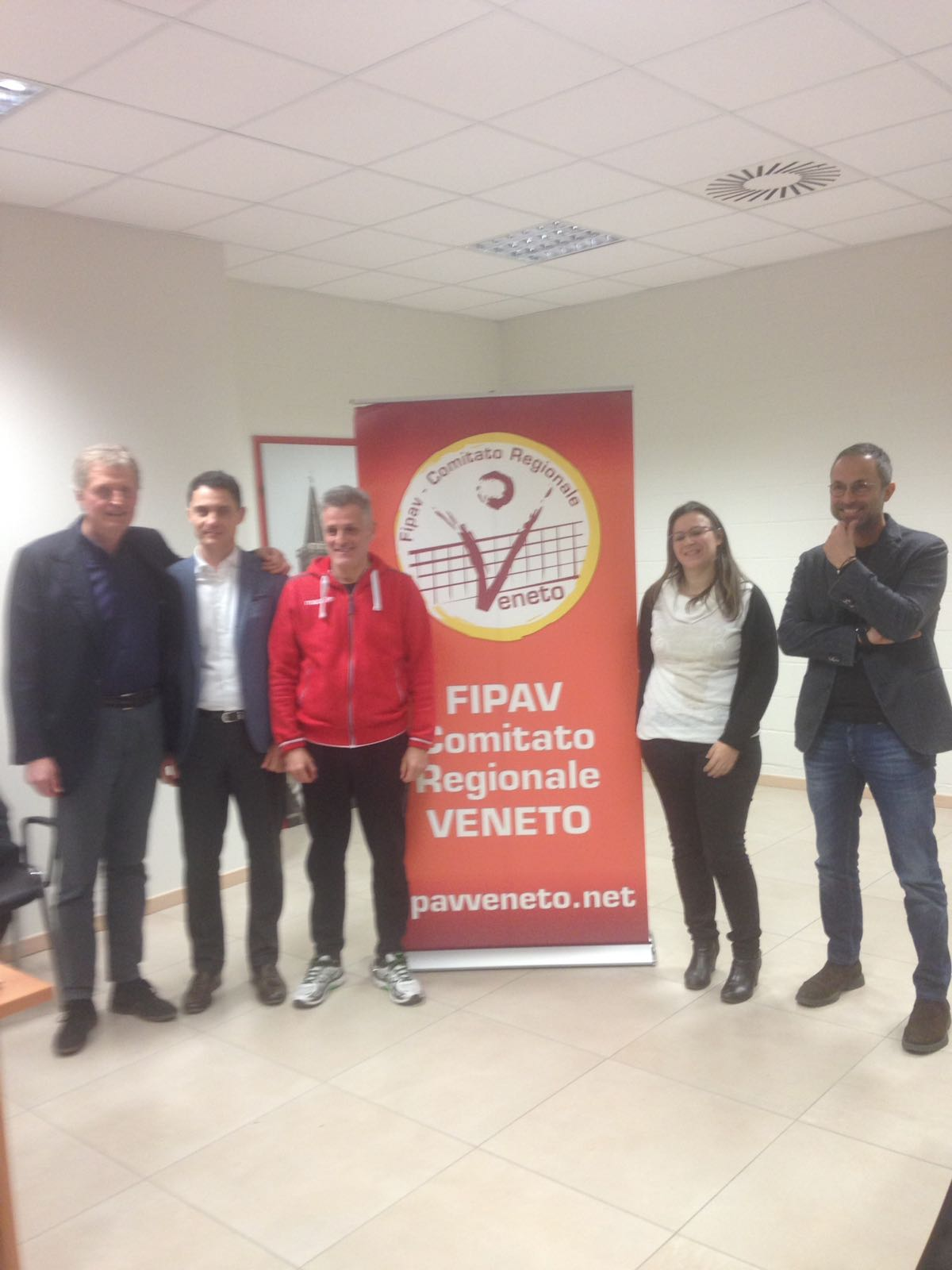 da destra, Leonardo Maran, Elena Viscardi, Marco Mencarelli, Andrea Puecher e Carlo Spillare