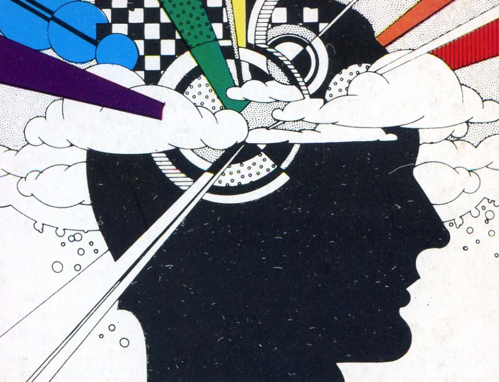 testa con colori