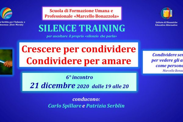 Silence Training 21 dicembre copertina