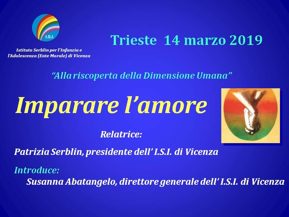 Imparare l'amore 14 marzo Trieste