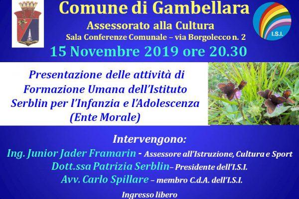 presentazione 15 novembre Gambellara