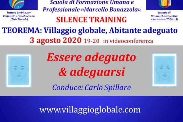 Silence Training 3 agosto