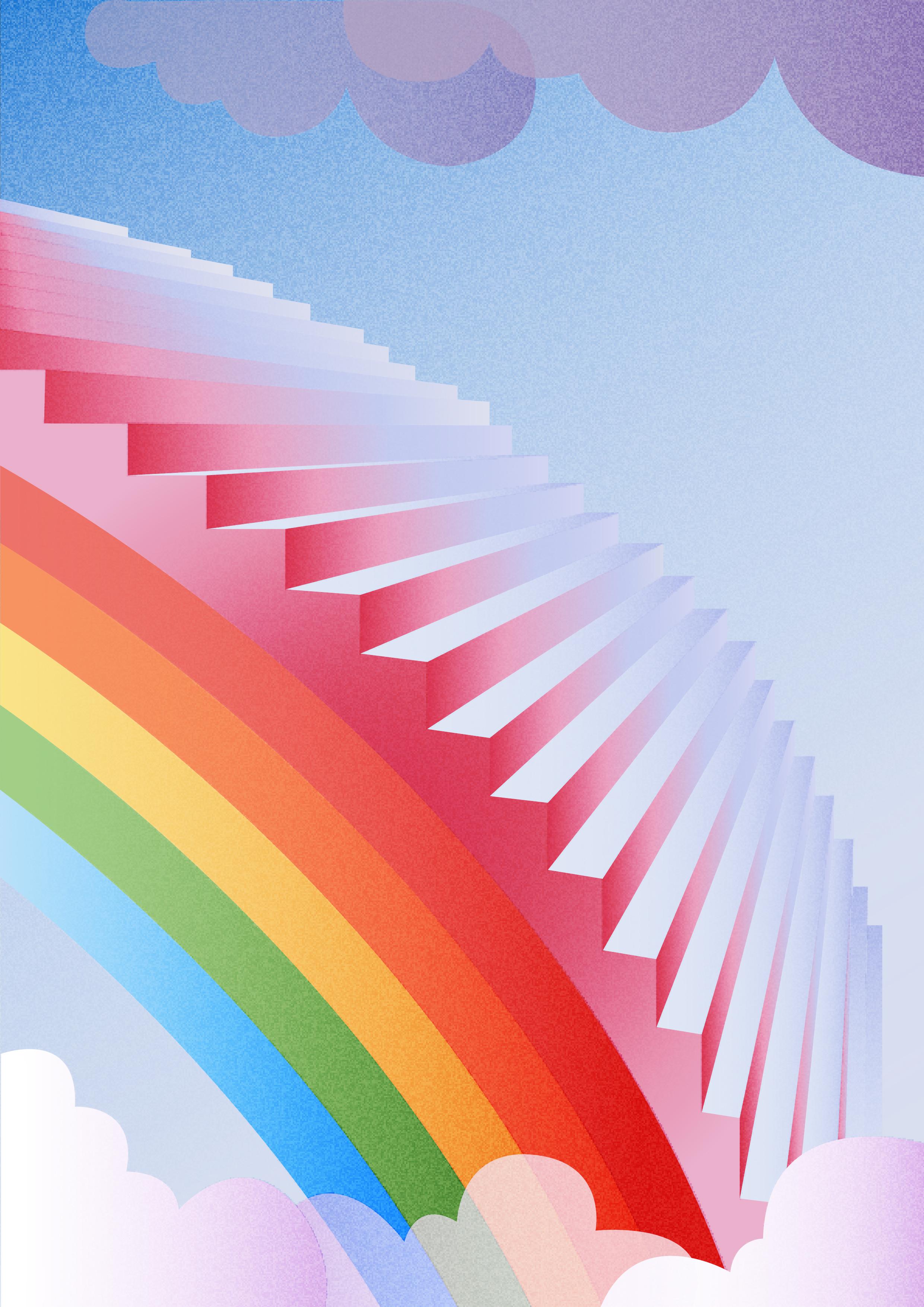 scala arcobaleno