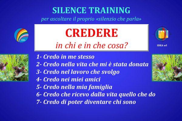 Silence Training Credo copertina